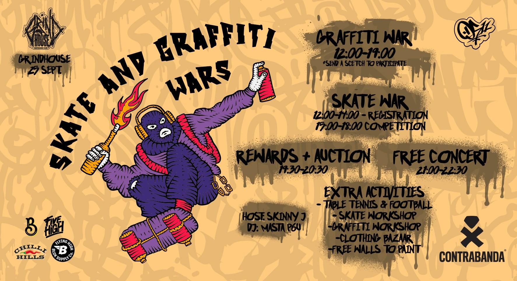 SKATE & GRAFFITI WARS