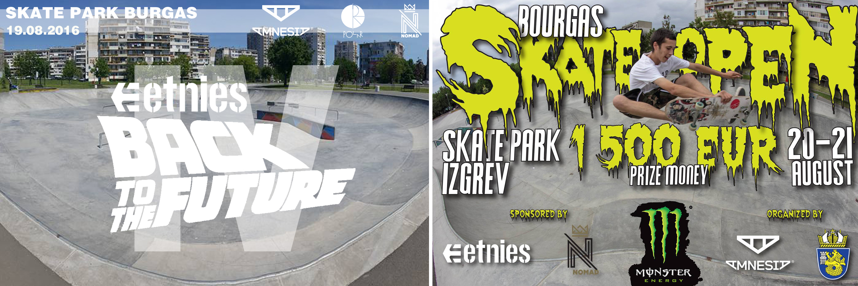 etnies Back to The Future & Bourgas Skate Open 2016